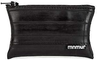 MNMUR - Piccolo portamonete in camera d'aria con zip nera fatto a mano. Cm 10 x 6
