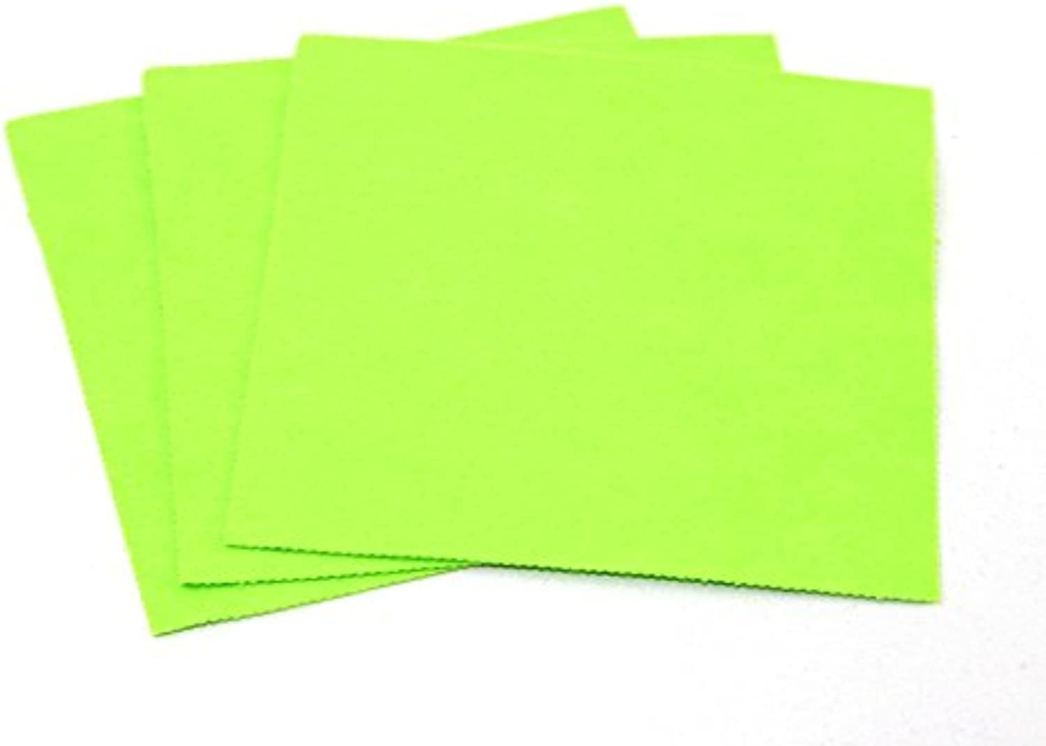 Minerva Crafts Sticky Back Self Adhesive Acrylic Felt Fabric 18  Square Zest Green - per pack of 100
