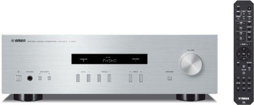 Yamaha A-S201 HiFi Stereo Verstrker mit Phono Eingang und 100 Watt je Kanal silber