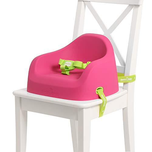 Koru Kids® Toddler Booster – Sitzerhöhung Stuhl Kind – sicherheitsgeprüft – Stuhlsitz – Made in Germany – für Kinder ab 12 Monaten bis 7 Jahre + (Fuchsia)