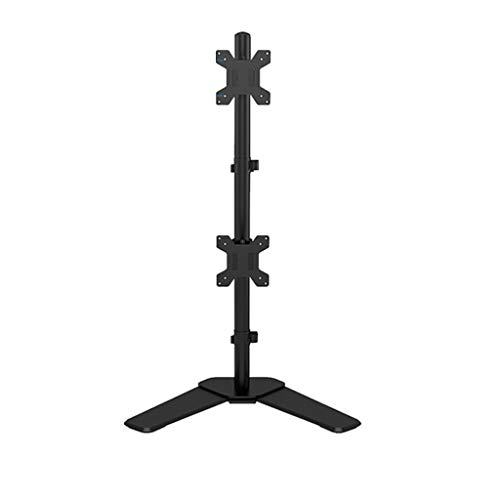 Dubbele Monitor Mount Arms 360 graden draaien Dual Screen Display Bracket Table Clamp Type Gratis Lifting Monitor Holder (Color : Black, Size : E)