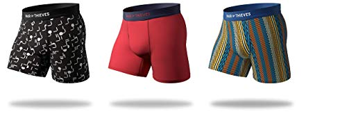 Pair of Thieves Men's Cool Breeze Boxer Brief 3 Pack Bundle, Assorted, Large