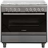 Bosch Serie   2, 90x60 cm, 5-Burner Free Standing Gas Cooker, HSG736357M, 1 Year Warranty