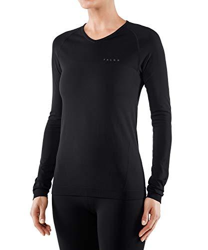 FALKE Warm Comfort Fit W L/S SH Couche de base supérieure Femme, Noir (Black 3000), L
