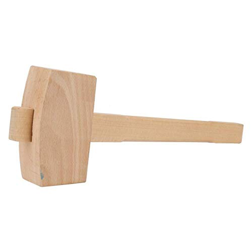 Mazo de madera pequeño/grande, martillo de carpintero profesional martillo de madera martillo herramienta de carpintería(L)