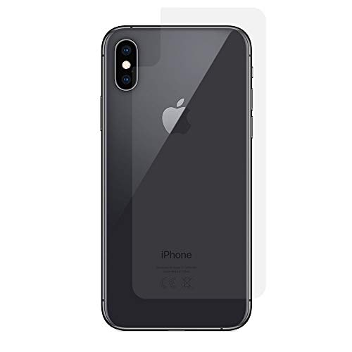 RT-TRADING 2X Apple iPhone XS (5,8 Zoll) - Rückseite Schutzfolie Klar Folie Screen Protector Schutz für Rückseite Back Film PET