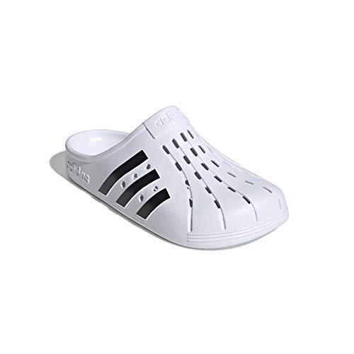adidas Badeslipper Clogs (White/Black, Numeric_42)