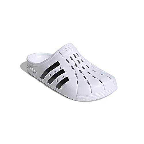 adidas Badeslipper Clogs (White/Black, Numeric_42)