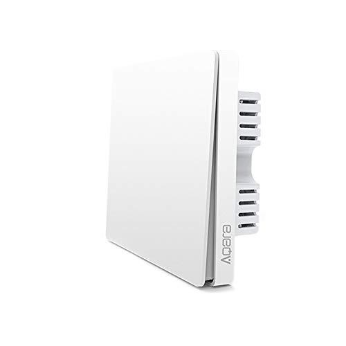 Adecuado para Xiaomi Aqara Interruptor Wifi, Tipo Cortina Interruptor De Pared Wifi Compatible Con La para Mijia Y para Apple Homekit, Interruptor Inalambrico para Motor De Obturador (1 Botón)