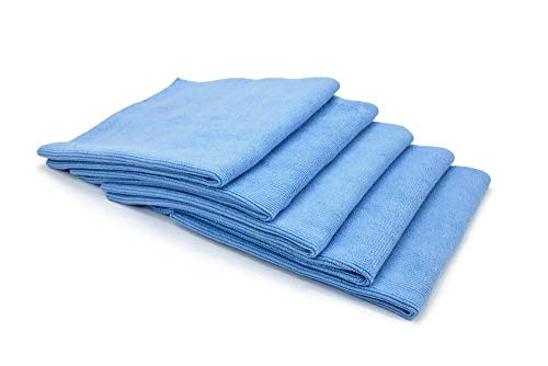 [Buffmaster] Microfiber Polish and Buffing Towel (16 in. x 16 in., 400 GSM) - 5 Pack (Blue)