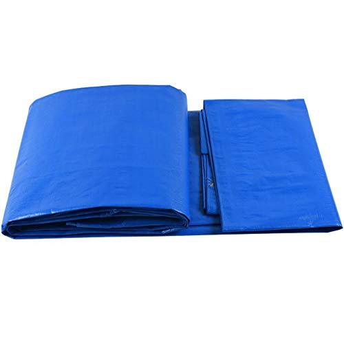 QJBH888 Red de sombreado HJBH Material plástico Parasol Sombrero de Lona Lona Impermeable Protector Solar Pabellón de la Sombra Lona de Lona Lona para automóvil Duradera (Azul y Blanca) Una va