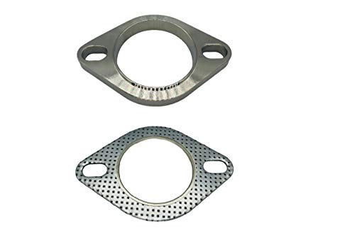 2-Bolt 2.5 Inch Exhaust Flange Connection Kit(Flange & Gasket) for Exhaust Turbo Downpipe Catback Headers Stainless Steel (2.5' (64mm))