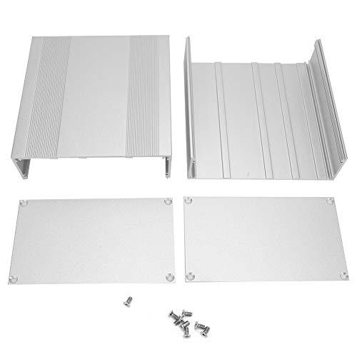 Caja de instrumentos de placa de circuito, caja de refrigeración de carcasa, caja de aluminio plateado esmerilado para productos electrónicos Placa de circuito impreso casera de bricolaje