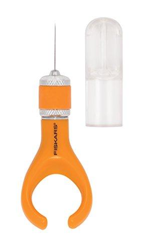 Fiskars Finger-Bastelmesser/Cutter, Für Rechts- und Linkshänder, Gesamtlänge: 10,7 cm, Qualitätsstahl/Kunststoff, Orange, Softgrip, 1024409