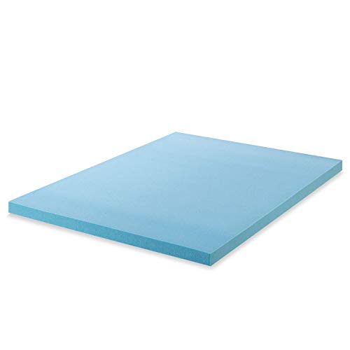 Zinus Cubierta viscoelástica de gel refrigerante de 5cm, Espuma con certificación CertiPUR-US, Cubierta en caja, 90 x 190 cm