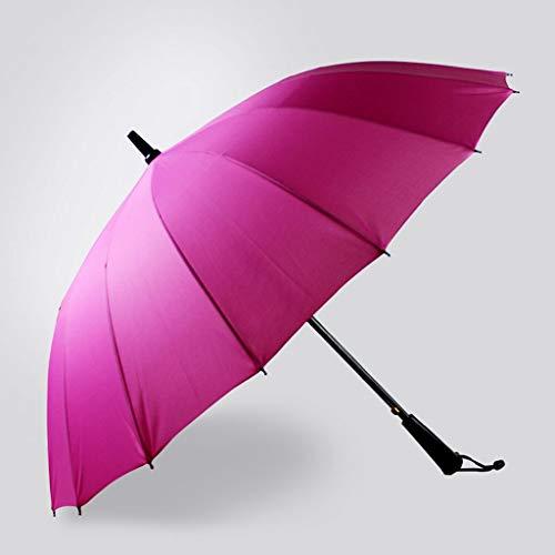 HQQSC Paraguas de Viaje a Prueba de Viento, Paraguas Compacto Abria ABRADO Cerrado, Mejorado DE 16 CISTAS APROXIMADAS REFORZADAS Paraguas (Color : Rose Red)