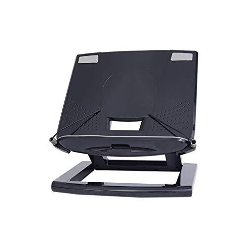 AI XIN SHOP Libro de Lectura Ajustable portátil Estante de Lectura Soporte de Lectura de Libros Documento Receta Estante Plegable Libro de Cocina Tablet Holder Organizador Rack (Negro)