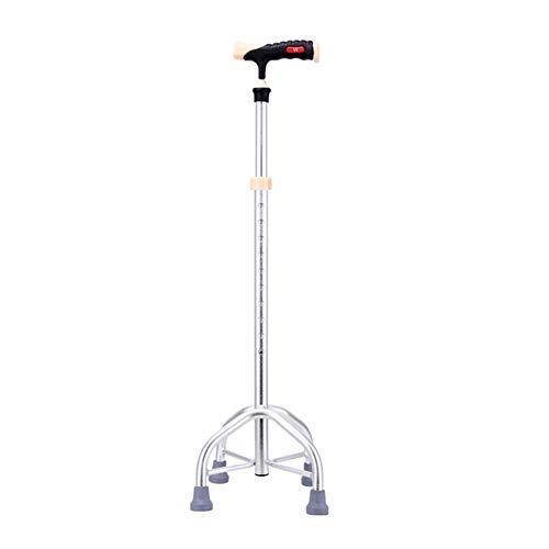 STARPROL Bastón Extensible de Aluminio Ultraligero con Tobillo y empuñadura Extra Grande, con Mango Universal ABS, Plata