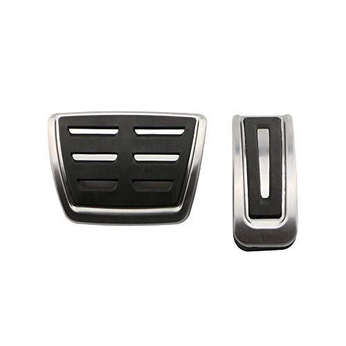 Lucsiky Cubierta de Almohadilla de Pedal de Coche MT AT de Acero Inoxidable para Volkswagen Volkswagen Poretta MK4 para Piezas de automóvil Bora Golf MK4 en 2 Piezas