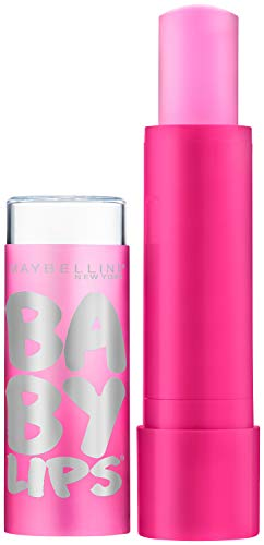 Maybelline New York Baby Lips Glow Lip Balm, My Pink, 0.13 oz.