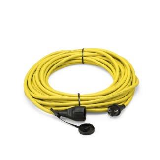 Trotec 7333000376 Cable alargador Profesional de 20 m / 230 V / 2,5 mm², Amarillo