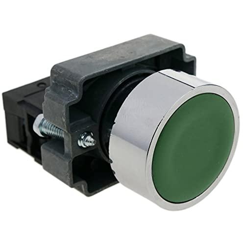 BeMatik - Pulsador momentáneo 22mm 1NO 400V 10A...