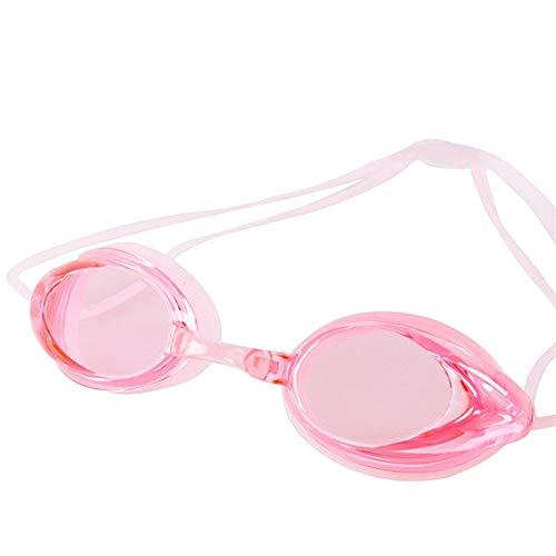 XUMI Schwimm Brille,Brille Uv-Schutz Anti-Fog Schwimmen HD Große Frame Double Line Spiegel Schwimmbrille Brillen Für Unisex Athleten Schwimmbrille (Color : Pink)