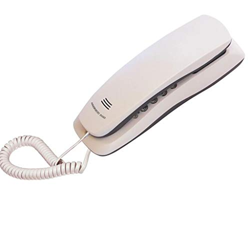 MSNDIAN Teléfono extensión pequeña baño de Pared Hotel Ascensor Ascensor pequeña máquina Colgando teléfono Fijo Artículos para el hogar teléfono (Color : Blanco)
