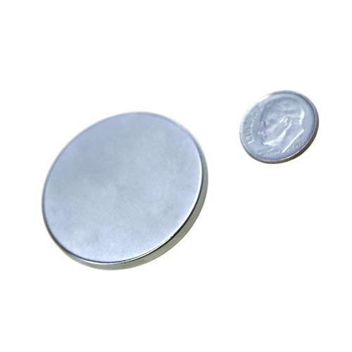 "Applied Magnets 2 Piece 1.5"" x 1/8"" Grade N42 Neodymium Disc Magnets"