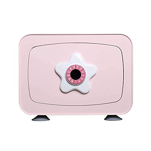 XiYou Caja de Seguridad Segura, Mini depósito Depósito de contraseña electrónica Depósito de Monedas de documento de Ahorro Especial para niños en el hogar (Azul, 35 * 25 * 25 cm)