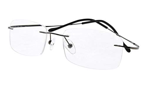 Eyekepper Titanium Rimless Eyeglasses Women Men Gunmetal
