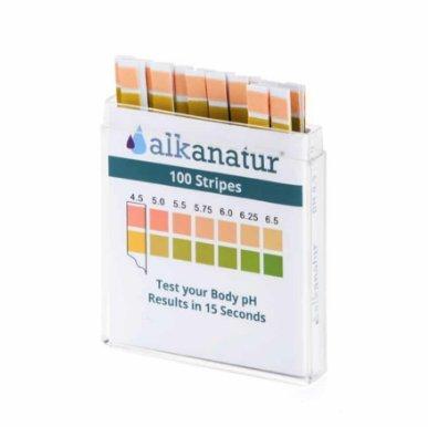 Alkanatur Tiras reactivas de Alta precisión para medir el pH en Saliva y orina