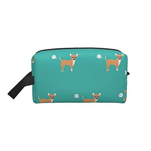 Bolsa de maquillaje Chihuahua Fart Funny Dog Breed Bolsa de