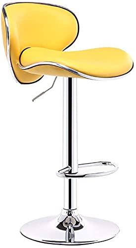 Chilequano Altura de contador de cocina de pub moderno, taburetes de bar, sillas de tablas de bares giratorios con espalda, muebles de sala de estar Silla de comedor, con silla de cuero tapizados para