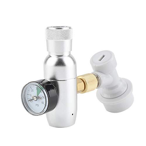 BYARSS Cargador de CO2, Kit de Cargador de regulador de CO2 Homebrew de 16 g, desconexión de Gas, Barril de Cerveza de Barril casero(0-60PSI)