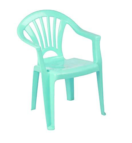 ED Children Plastic Chair Stackable Chair Kids Garden Chair Children Home Picnic Party Nursery School Club Indoor Outdoor Chair (Dark Green)