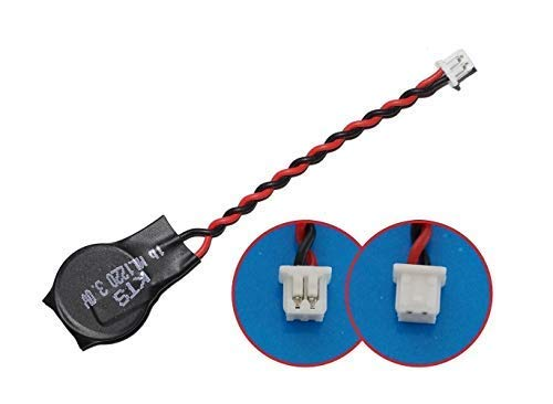 LeFix ML 1220 ML1220 Rechargeable 3V RTC CMOS BIOS Battery with Leads Cable Plug 2 Pins 2 Wires 1.25mm Pitch (CMOS, Laptop, Notebook, Motherboard, Bristlebots, etc.)