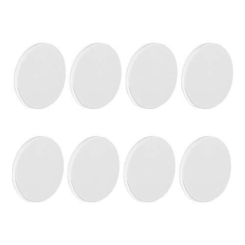 sourcing map 8 Uds Doble Cara D40xH3mm Espuma Pies Antideslizante Almohadillas para Altavoz Guitarra Amplificador HiFi Blanco