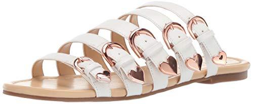 Katy Perry Women's The Nikki Flat Sandal, white, 5.5 Medium US