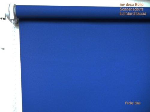 mydeco origineel zonwerend rolgordijn, rolgordijn, rolgordijn met ketting 60 cm breed, 175 cm hoog, kleur blauw, met ketting, naar keuze links of rechts