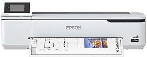 Epson SureColor SC-T2100 Tinten-Großformatdrucker für Poster und technische Zeichnungen (Drucke bis DIN A1+, Rollendrucke bis 24 Zoll (61 cm/A1+), WiFi, Ethernet) weiß