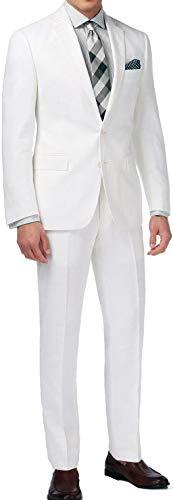 New Men's 2 Button White Dress Suit for Miami Vice Costume