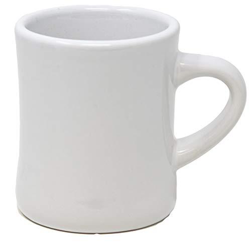 Funny Guy Mugs Classic Retro Diner Coffee Mug, Ceramic, White, 10 Ounce