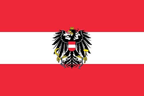 "TrendClub100® Fahne Flagge ""Österreich Austria at"" mit Adler - 150x90 cm / 90x150cm"