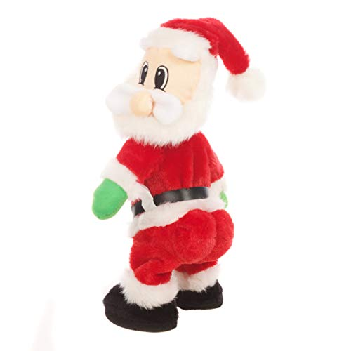 The Christmas Workshop 71100 Singing & Dancing Plush Twerking Santa Claus | Indoor Christmas Decoration | Battery Operated | 35cm x 16cm x 12cm, Red