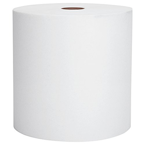 "Kimberly-Clark 01040 Scott Hard Roll Paper Towel, 1 Ply, 8"" Width x 800' Length, 1.5"" Core Size, White (Case of 12)"