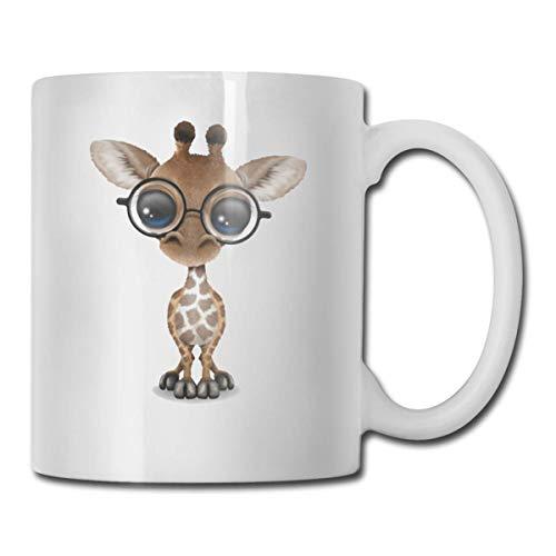 Cool Giraffe Wear - Taza para gafas de sol, taza de café para bebidas calientes, taza de gres, taza de café de cerámica, taza de té de 11 oz, regalo divertido, taza de té y café
