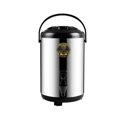 WWWANG La leche té Cubo Cubo Comercial de aislamiento de acero inoxidable de doble capa que hace espuma de la leche Tea Shop Cafetería Aislamiento Térmico Frío hotel 6L, 8L, 10L, 12L Almacenamiento pe
