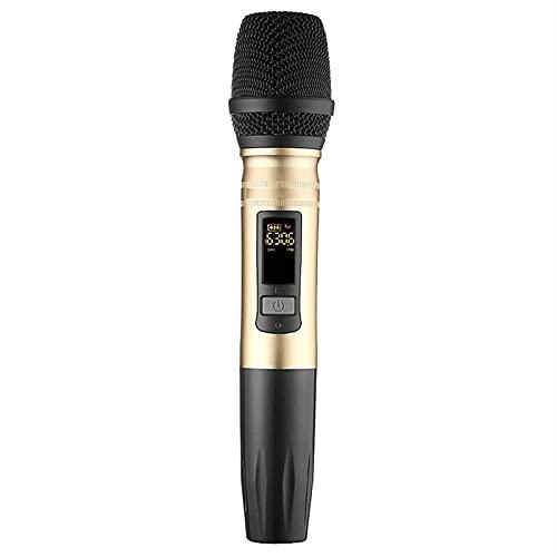 zlw-shop Soltero UHF Sistema de micrófono inalámbrico Capacitor MICHELD UHF Altavoz con Receptor USB portátil para KTV DJ Amplificador de Voz