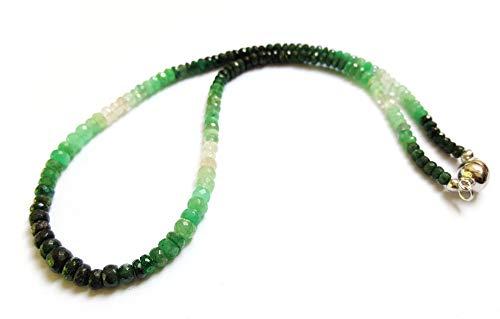 Smaragd Collier 85 ct. 925 Silber Magnetverschluss 45,5 cm